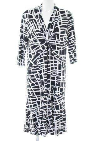 Basler Robe stretch noir-blanc motif abstrait style décontracté