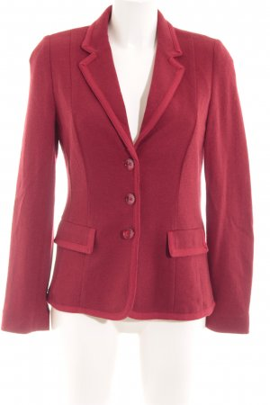 Basler Knitted Blazer dark red casual look