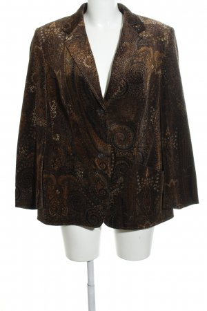 Basler Blazer sweat marrone-oro stampa integrale stile casual