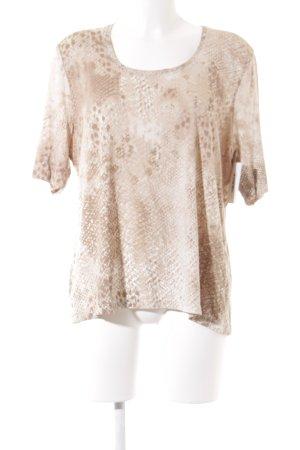 Basler T-Shirt creme-beige abstraktes Muster Casual-Look