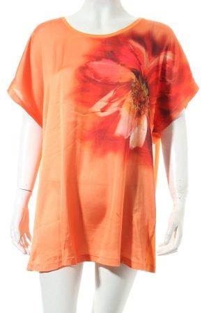 Basler T-Shirt orange Allover-Druck Street-Fashion-Look