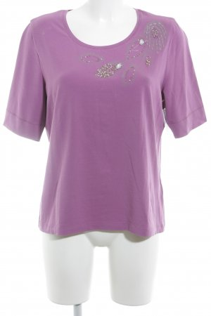 Basler T-Shirt violett florales Muster Casual-Look