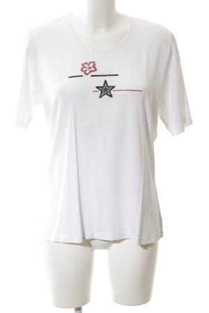 Basler T-shirt blanc motif graphique style simple