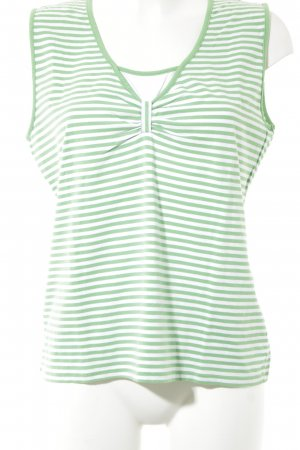 Basler Débardeur à bretelles vert-blanc motif rayé style décontracté