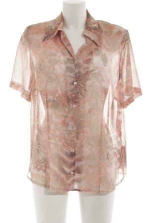Basler Blouse transparente rose Mélange de motifs style décontracté