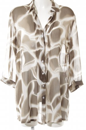 Basler Blouse transparente motif abstrait style transparent