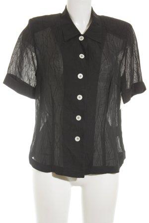 Basler Transparenz-Bluse schwarz florales Muster Elegant
