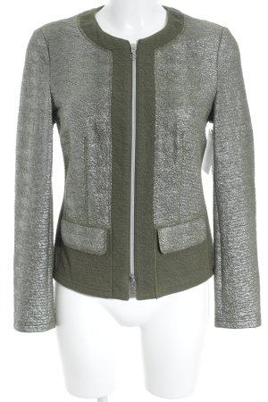 Basler Übergangsjacke khaki-silberfarben extravaganter Stil