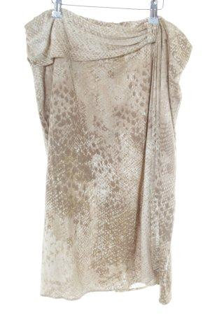 Basler Falda cruzada marrón-blanco puro elegante