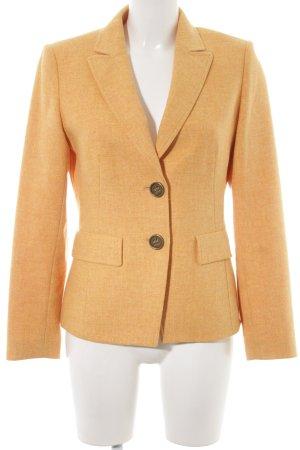 Basler Blazer en laine jaune foncé-orange doré moucheté élégant