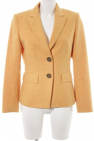 Basler Wollen blazer donkergeel-goud Oranje gestippeld elegant