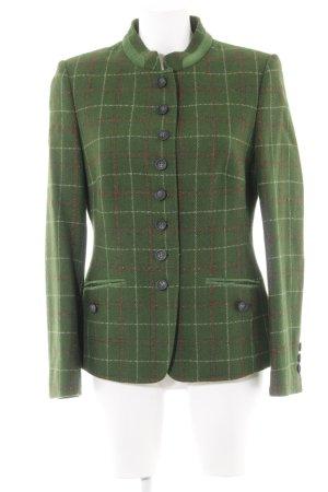 Basler Woll-Blazer waldgrün-rostrot Karomuster 70ies-Stil