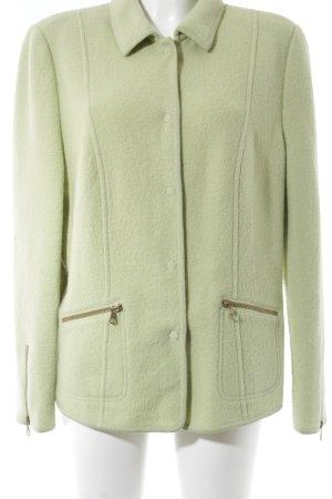 Basler Veste en laine vert pâle style extravagant