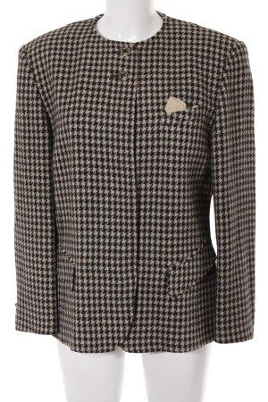 Basler Giacca di lana nero-beige chiaro Stampa suggestiva stile classico