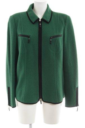 Basler Veste en laine vert forêt-noir style d'affaires
