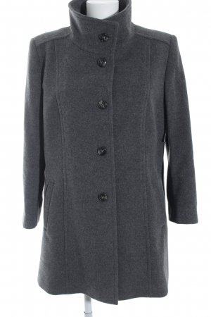 Basler Abrigo de lana gris estilo sencillo