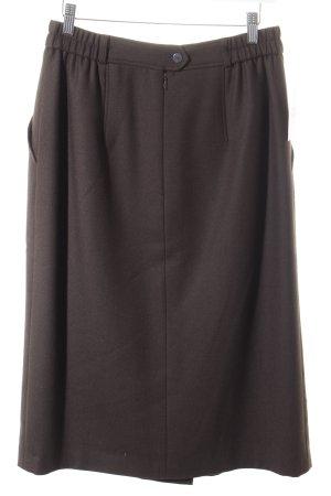 Basler Wollen rok grijs-bruin klassieke stijl