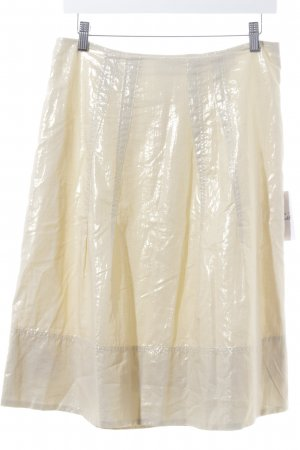 Basset Flared Skirt gold-colored extravagant style