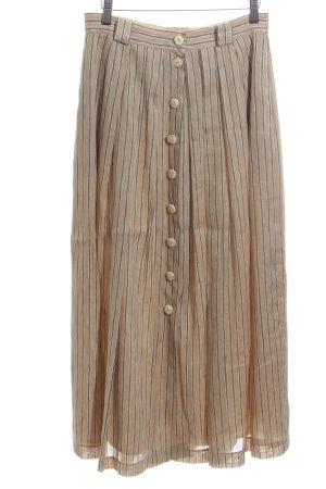 Basset Jupe mi-longue rose chair-bleu motif rayé style décontracté