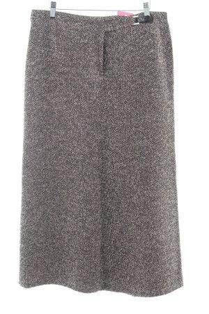 Basset Gonna tweed nero-rosa puntinato stile casual