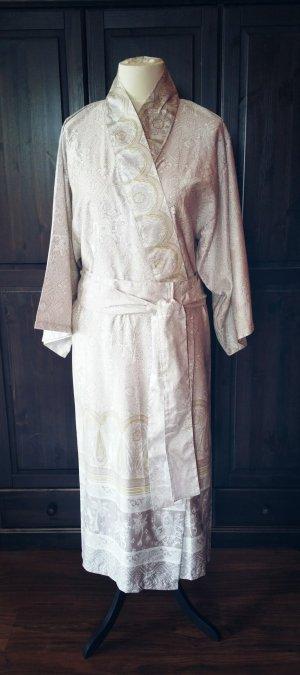 Bassetti Morgenmantel Kimono S-M (38/40) beige senf Baumwolle Asien XXL Gürtel