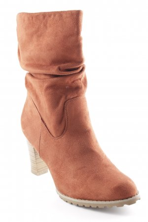 Bata Heel Boots cognac-coloured country style