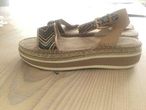 Bata Plateauschuhe- Sandalen mit Kork Gr. 40 Hippie Boho Style