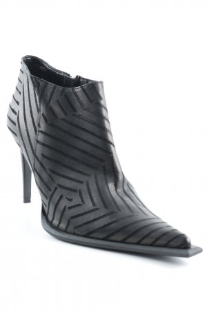 Bata Zipper Booties black-silver-colored