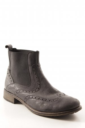 Bata Bottines à enfiler gris anthracite style décontracté