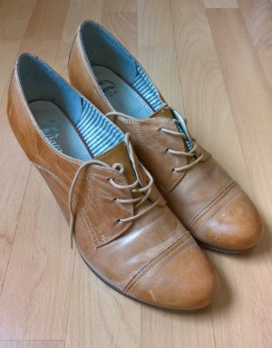 Bata Lace Shoes camel leather