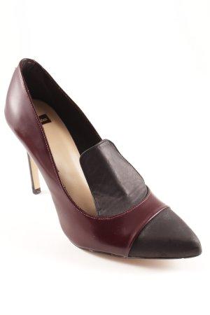 Bata Stiletto bordeau-noir style d'affaires