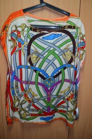 Oversized blouse veelkleurig Viscose