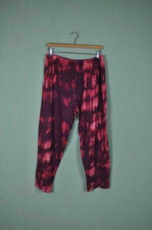 Batik Hose / Schlafanzughose in Weinrot und Rot