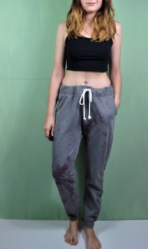 H&M Baggy Pants anthracite-purple