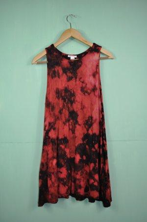 Batik Kleid in Schwarz und Rot