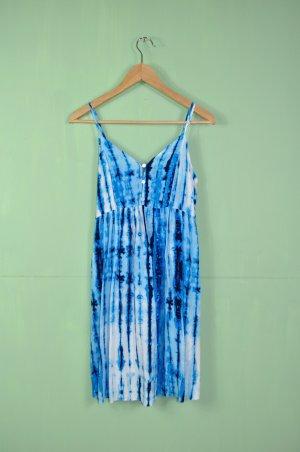 Batik Kleid in Weiß und Blau / Türkis (Asos Maternity)