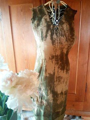 Batik-Kleid von MOHAVE mit Fransen und Stickerei