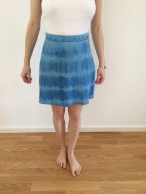 Batik Lederrock Neu Blau