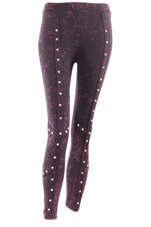 Batik-Leggings mit Nieten schwarz pink