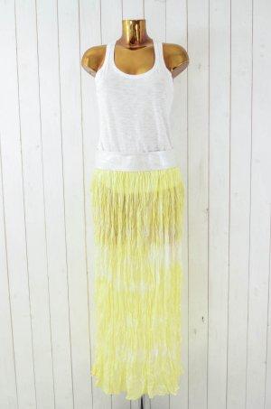 Maxi Skirt primrose-white silk