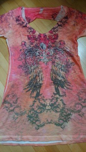 mister*lady Top batik orange-rose