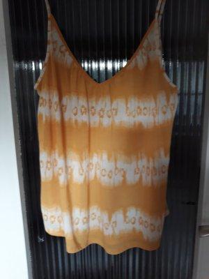 H&M Conscious Collection Haut à fines bretelles orange doré