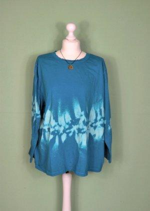 Batik Vintage Pullover in Türkis