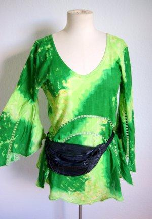 Batik Zipfelshirt, Zipfelkleid Cut Out Goa, Neon Batik psychedelic