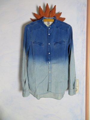 G-Star Jeans blouse azuur-blauw Katoen