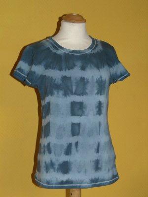 Top batik gris tissu mixte