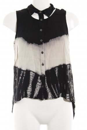Batik shirt zwart-wolwit batik patroon Beach-look