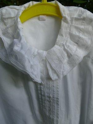 Ruche blouse wit Katoen