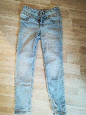 John Baner Pantalone cinque tasche azzurro