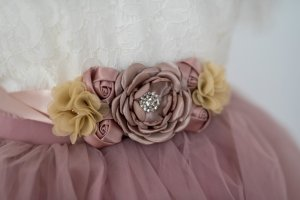 Fabric Belt dusky pink-purple
